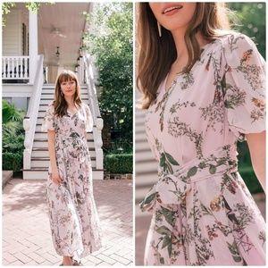 Gal Meets Glam phoebe floral chiffon maxi dress